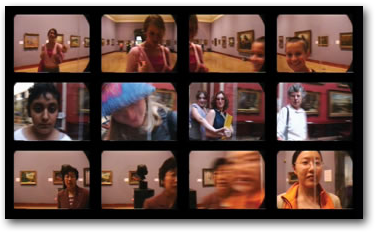 A few freeze-frames of the Time|Motion interactive exhibit.